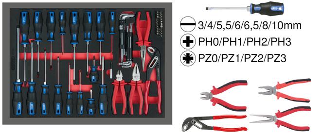 Bộ kìm và tô vít 59 cây ks tools 711-1059-1